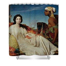 Odalisque Shower Curtain by Francois Leon Benouville