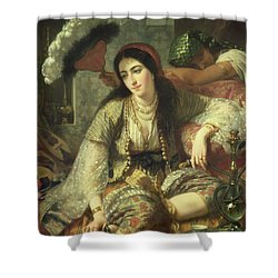 Odalisque Shower Curtain by Jean Baptiste Ange Tissier