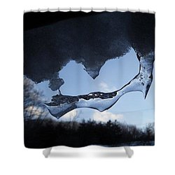 Odd Icicle Shower Curtain