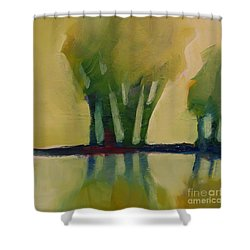 Odd Little Trees Shower Curtain