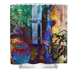 Shower Curtain featuring the photograph Ode On Another Urn by LemonArt Photography