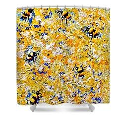 Ode To Bees.. Shower Curtain by Cristina Mihailescu
