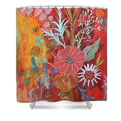 Shower Curtain featuring the painting Ode To Spring by Robin Maria Pedrero