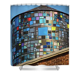 Ode To Water Towers Shower Curtain