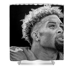 Odell Beckham Jr. Drawing Shower Curtain by Angelee Borrero