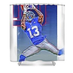 Odell Beckham Jr New York Giants Oil Art Shower Curtain