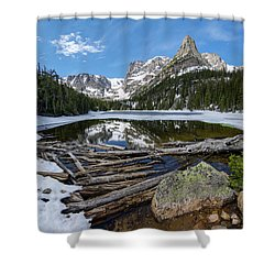 Shower Curtain featuring the photograph Odessa Lake by Aaron Spong