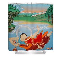Odren Pelgi Wangchuk Shower Curtain