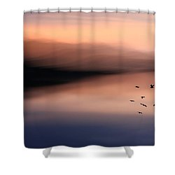 O'er Mountains Shower Curtain