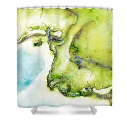Of Earth And Water Shower Curtain by Michelle H