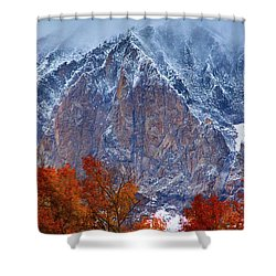 Of Fire And Ice Shower Curtain by John De Bord