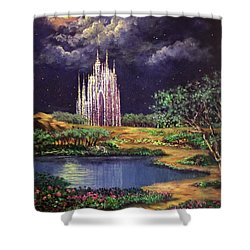 Of Glass Castles And Moonlight Shower Curtain