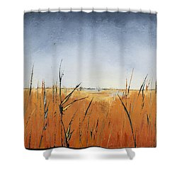 Of Grass And Seed Shower Curtain by Carolyn Doe