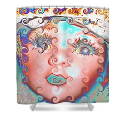 Shower Curtain featuring the digital art Of Many Colors by Holly Ethan