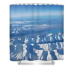 Of Peaks And Lakes Shower Curtain