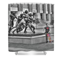 Off Field Distraction Shower Curtain