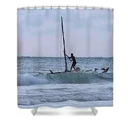 Off Fishing Shower Curtain