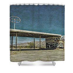 Off Highway 10 Shower Curtain