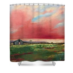 Off Highway 27 Shower Curtain