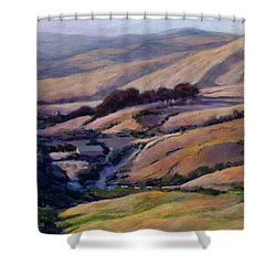 Off Jalama Road Shower Curtain