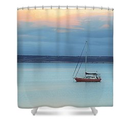Shower Curtain featuring the photograph Off Sailing by Stephen Mitchell