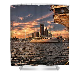 Off The Port Stern Shower Curtain