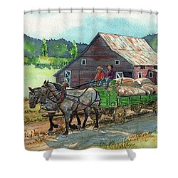 Off To Market Shower Curtain