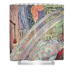 Offering To The Gods Shower Curtain by Hawaiian Legacy Archive - Printscapes