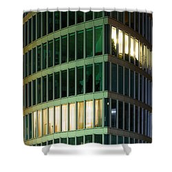 Office Building At Night Shower Curtain