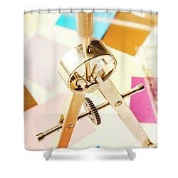 Office Plan Draft Shower Curtain
