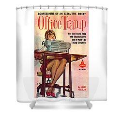 Office Tramp Shower Curtain
