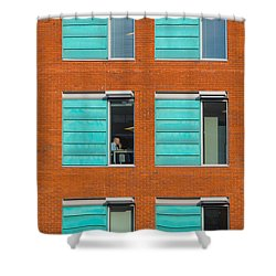 Shower Curtain featuring the photograph Office Windows by Colin Rayner