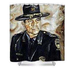 Officer Demaree Shower Curtain
