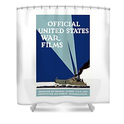 Official United States War Films Shower Curtain by War Is Hell Store