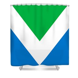 Official Vegan Flag Shower Curtain