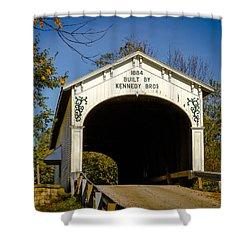 Offutt's Ford Covered Bridge Shower Curtain