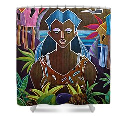 Shower Curtain featuring the painting Ofrendas De Mi Tierra II by Oscar Ortiz