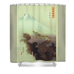 Ogata Gekko Dragon Shower Curtain
