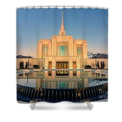 Ogden Lds Temple Shower Curtain