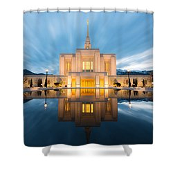 Shower Curtain featuring the photograph Ogden Temple  by Dustin  LeFevre
