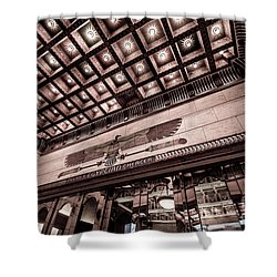 Ogden's Historic Peery's Egyptian Theater At Night  Shower Curtain by Gary Whitton