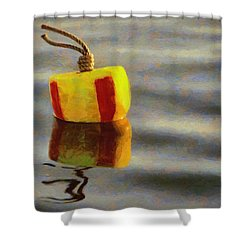 Shower Curtain featuring the painting Oh Buoy by Jeff Kolker