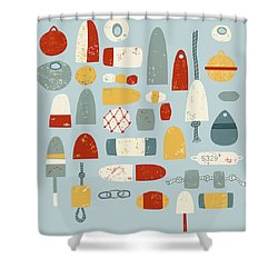 Oh Buoy Shower Curtain by Nic Squirrell