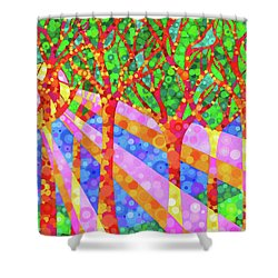 Oh Happy Day Shower Curtain by Jennifer Allison