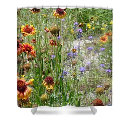Oh Hi Orange Red Purple Flowers Shower Curtain