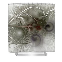Shower Curtain featuring the digital art Oh That I Had Wings - Fractal Art by NirvanaBlues