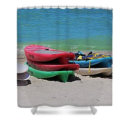 Shower Curtain featuring the photograph Oh The Beach Life by Michiale Schneider