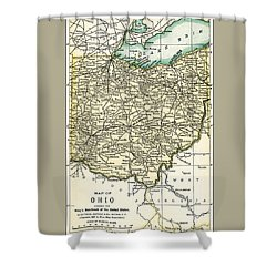Ohio Antique Map 1891 Shower Curtain