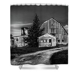 Ohio Barn At Sunrise Shower Curtain