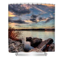 Ohio Fall Sunset Shower Curtain